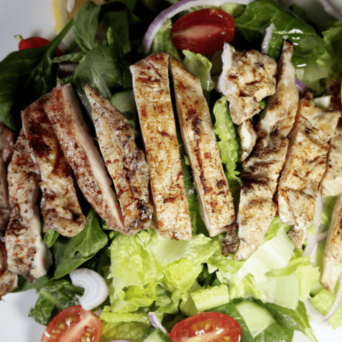 Grilled chicken breast with fresh mixed salad(2)
